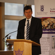 Presiding Officer Ken Macintosh MSP speaking at a Futures Forum event in 2017