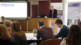 "Neil Findlay chairing the event ""Fitter or Fatter"""