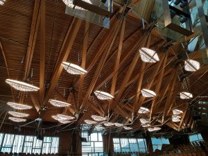Scottish Parliament chamber lights