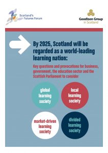 """Front cover of """"By 2025, Scotland will be regarded as a world-leading learning nation"""""""