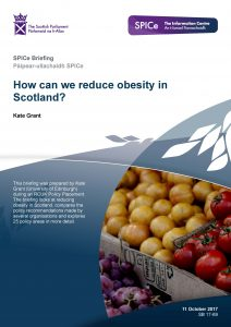SPICe Briefing: How can we reduce obesity in Scotland?