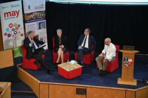 The panel at the Our Future Scotland event at the University of Aberdeen