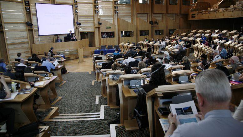 Scottish Parliament debating chamber