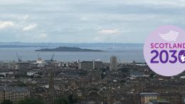 View of North Edinburgh and Firth of Forth beyond