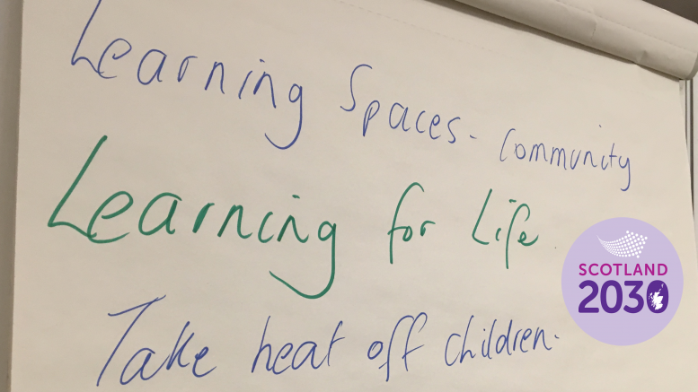 "Flipchart reading ""Learning for life"""
