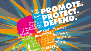 """Front cover of CYPC Scotland report: """"Promote, protect, defend"""""""