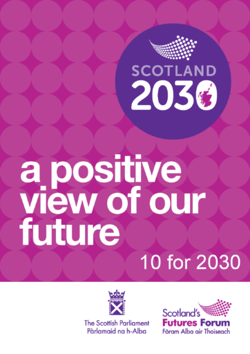 Scotland 2030 Report: 10 for 2030 front page