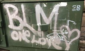 Black Lives Matter/One Love graffiti